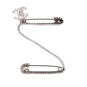 Silver Ultra Rare Cc Brooch Pin Charm